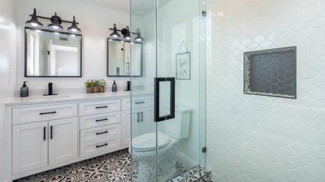 En badrumsrenovering i Stockholm